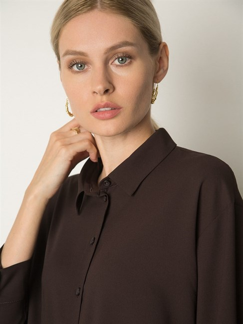 Блузка однотонная - фото 75505
