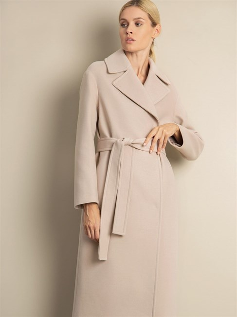 Пальто с поясом - фото 75595
