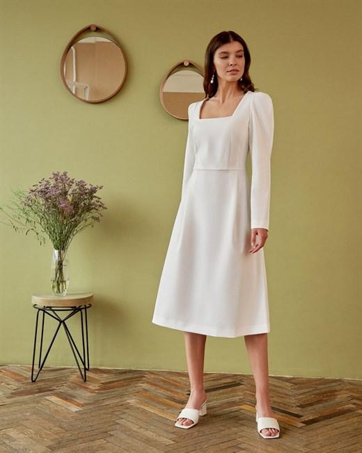 Платье с квадратным вырезом - фото 76081