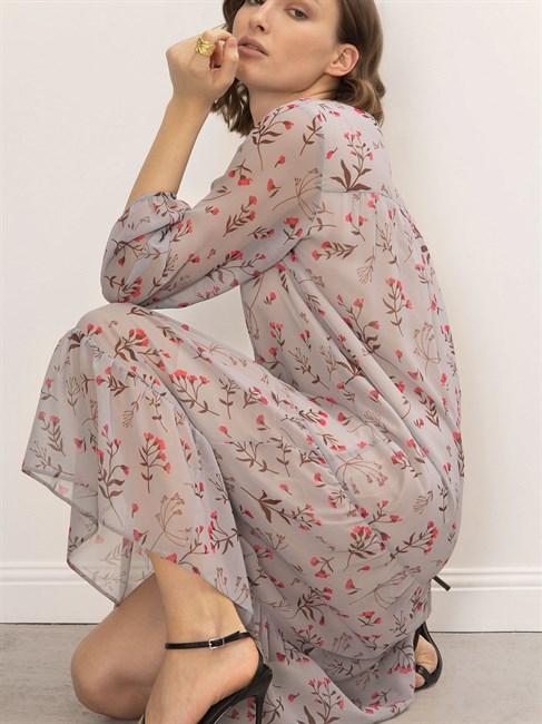 Платье шифоновое с принтом - фото 79098