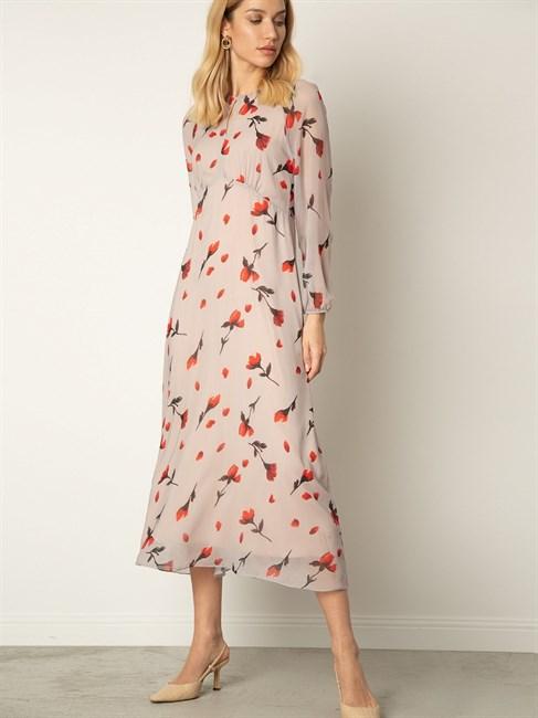 Платье шифоновое с принтом - фото 79109
