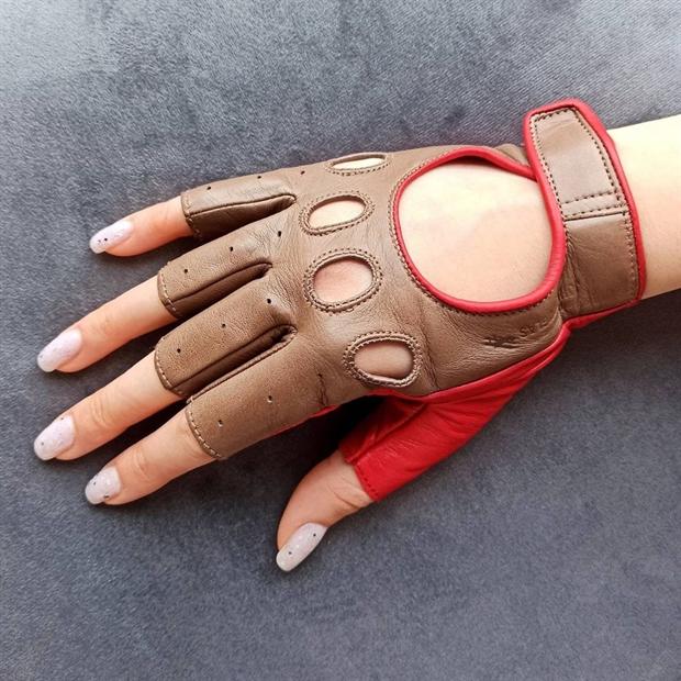 Перчатки женские LADYSPORT Light без пальцев кожа Nappa - фото 79200