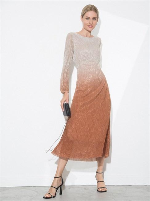 Платье А-силуэта с градиентом цвета - фото 79864