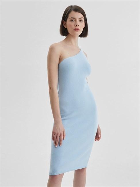 Платье трикотажное ассиметричное - фото 79894