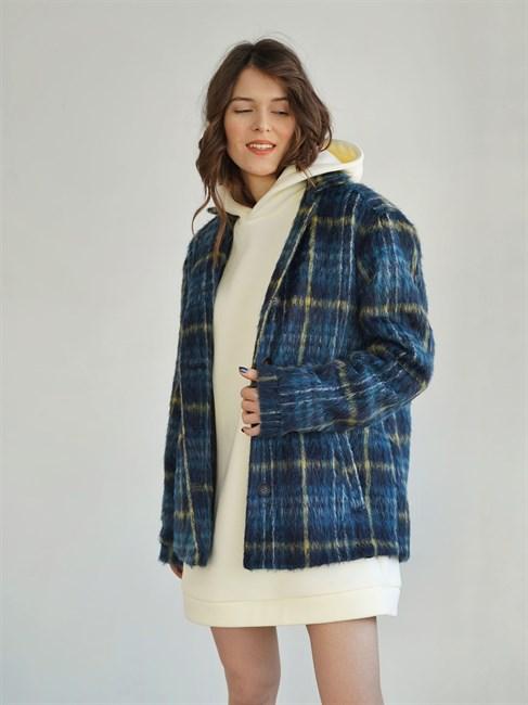 Пальто-рубашка, клетка, ткань Roberto Cavalli - фото 82744