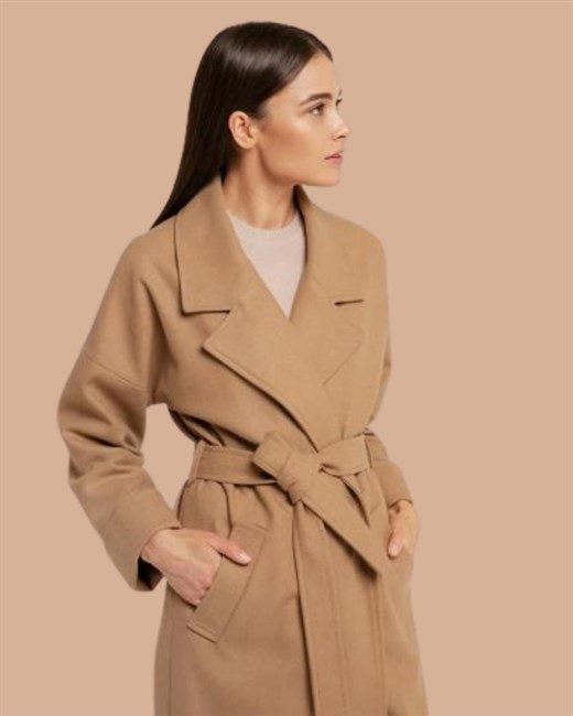 Пальто свободное с английским воротником - фото 84754