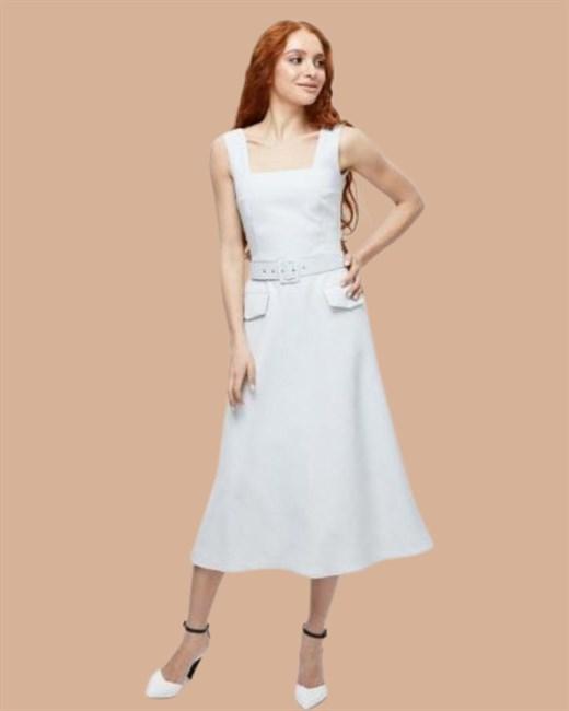 Платье-сарафан с поясом - фото 84758