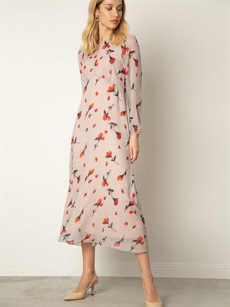 Платье шифоновое с принтом